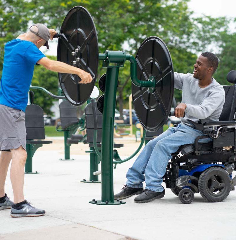 2-Person Accessible Big Wheel Stretch